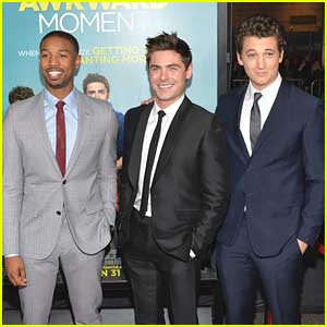 Zac Efron, Michael B. Jordan, & Miles Teller: 'That Awkward Moment' Premiere!