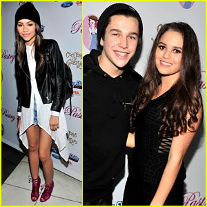 Zendaya & Austin Mahone: Coco Jones' Sweet 16 with Madison Pettis!