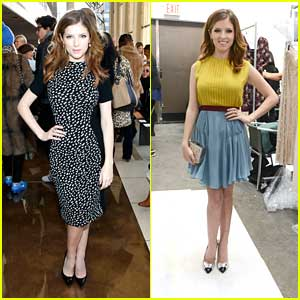 Anna Kendrick: Tory Burch & Jenny Packham Shows at NYFW