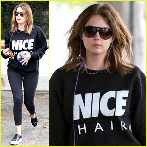 Ashley Benson Has 'Nice Hair' at the Gym