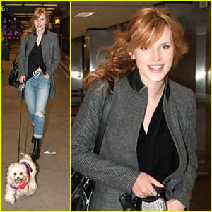 Bella Thorne & Kingston: Off To NYFW!