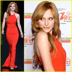 Bella Thorne: Red Dress Fashion Show 2014