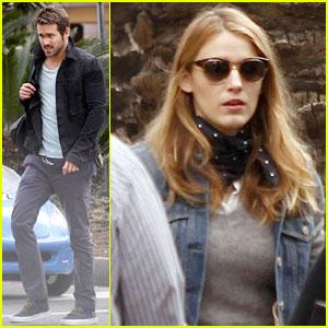 Blake Lively Visits Hubby Ryan Reynolds on 'Mississippi Grind' Set