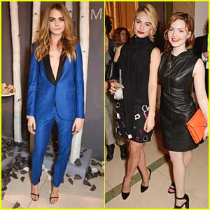 Cara Delevingne: Mulberry Dinner with Lily James