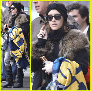 Carly Chaikin Bundles Up for Super Bowl 2014!