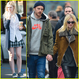 Dakota & Elle Fanning: Separate Coast Sisters Enjoy Very Different Weather