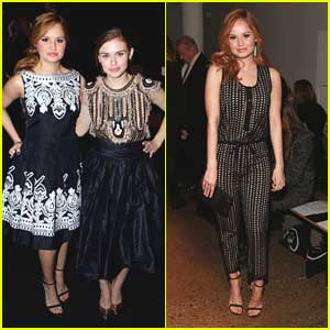 Debby Ryan & Holland Roden: Front Row at Naeem Khan for NYFW