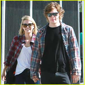 Emma Roberts: Birthday Lunch with Evan Peters