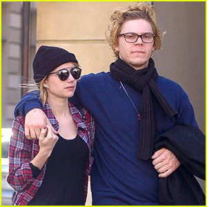 Emma Roberts & Evan Peters: Paris Stroll Ahead of Dior Fashion Show
