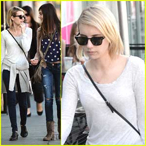 Emma Roberts Spends Time with Sister Grace
