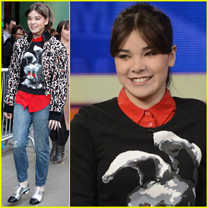 Hailee Steinfeld Promotes '3 Days to Kill' on GMA