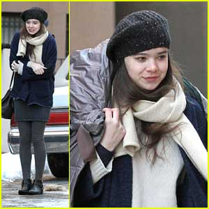 Hailee Steinfeld Shivers on 'Ten Thousand Saints' Set in NYC