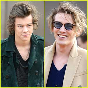 Harry Styles & Jamie Campbell Bower: Burberry Prorsum Show For London Fashion Week