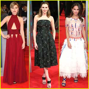 Imogen Poots & Laura Carmichael: BAFTAs 2014 with Alicia Vikander