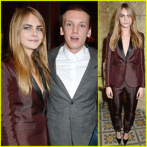 Jamie Campbell Bower & Cara Delevingne: BAFTA Nominee Dinner!
