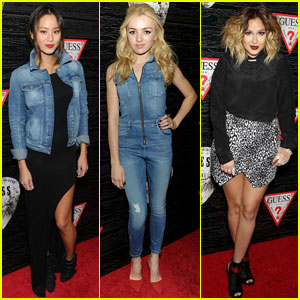 Jamie Chung & Peyton List: Guess Girls at NYFW!