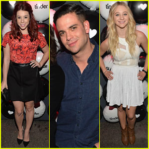 Jillian Rose Reed & Mark Salling: Glamour Hearts Tinder Party