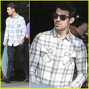 New Uncle Joe Jonas Grabs Lunch in Los Angeles