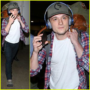 Josh Hutcherson Touches Down at LAX Airport