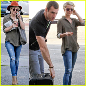 Julianne Hough Drops Off New Boyfriend Brooks Laich At LAX