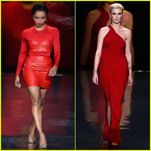Kat Graham & Ireland Baldwin: Red Dress Fashion Show 2014