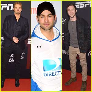 Chace Crawford Plays Flag Football; Kellan Lutz Parties with ESPN