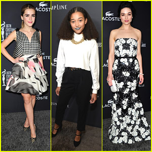 Kiernan Shipka & Amandla Stenberg: Costume Designers Guild Awards 2014 with Crystal Reed