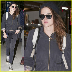 Kristen Stewart in 'Amazing Spirts' While Departing Paris