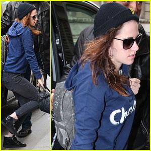 Kristen Stewart Meets Up with Chanel's Karl Lagerfeld in Paris