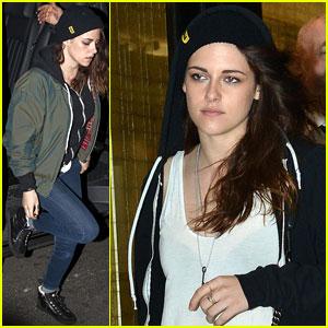 Kristen Stewart Stops by Chanel in Paris