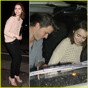 Lily Collins & New Boyfriend Thomas Cocquerel: Craig's Dinner Date!