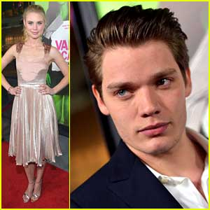 Lucy Fry & Dominic Sherwood: 'Vampire Academy' Premiere Pair