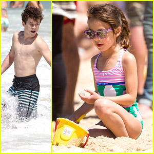 Nolan Gould Goes Shirtless; Aubrey Anderson-Emmons Makes Sandcastles on Bondi Beach in Sydney
