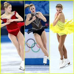 Ashley Wagner, Gracie Gold & Polina Edmunds: Short Program Skating Pics from Sochi Olympics!