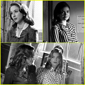 Pretty Little Liars Go Back To the 1940s - See The Pics!