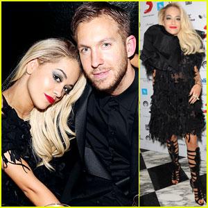Rita Ora & Boyfriend Calvin Harris Hit Up BRIT Award After-Parties