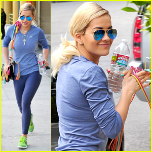 Rita Ora: Post-Party Workout in L.A.