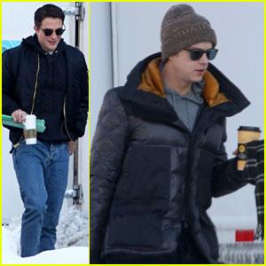 Robert Pattinson & Dane DeHaan Keep Warm While Filming 'Life' in Toronto