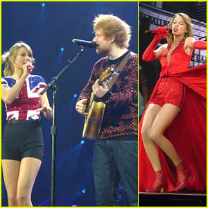 Taylor Swift Sings 'Lego House' with Ed Sheeran in London (Video)