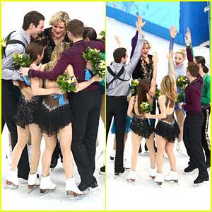 Meryl Davis, Charlie White & Figure Skating Team Grab Bronze for Team Event at Sochi Olympics!