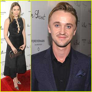Tom Felton & Elizabeth Olsen: 'In Secret' Hollywood Premiere Pics!