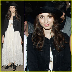 Troian Bellisario Attends H&M Fashion Show After Engagement News!