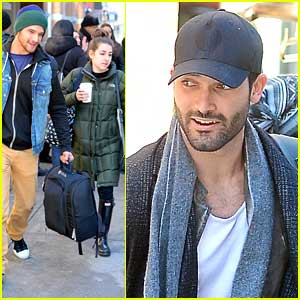 Tyler Posey & Tyler Hoechlin: Hotel Check Out in NYC