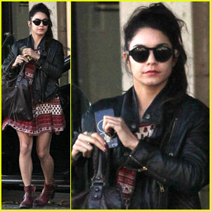 Vanessa Hudgens Gets in the Valentine's Day Spirit at the Nail Salon