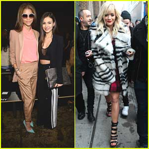 Zendaya & Victoria Justice: DKNY Show at NYFW with Rita Ora