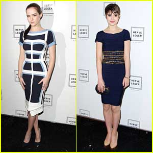 Zoey Deutch & Sami Gayle: Herve Leger Ladies at NYFW