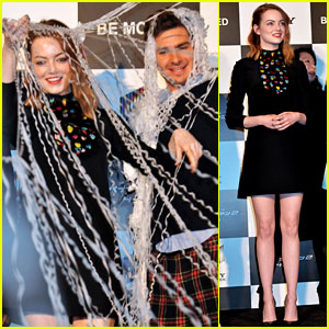 Andrew Garfield & Emma Stone Get Webbed at 'Spider-Man 2' Photo Call in Tokyo!