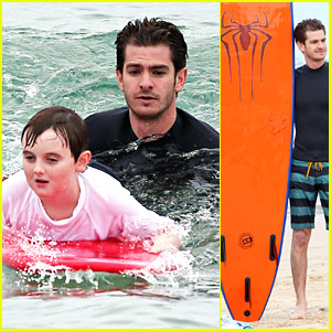 Andrew Garfield Surfs With Autistic Kids, Takes #1 Spot As Our Top Movie Boyfriend