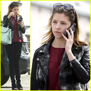 Anna Kendrick Rocks Tattered Jeans for Burbank Studio Stop