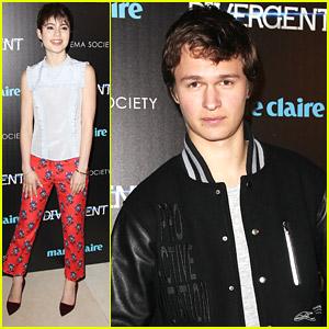Ansel Elgort: Varsity Jacket For 'Divergent' NYC Premiere